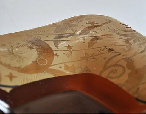 Decalcomania in oro e argento da applicare su cornici in legno