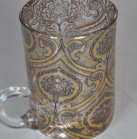 Decalcomanie oro e argento metalli preziosi su vetro